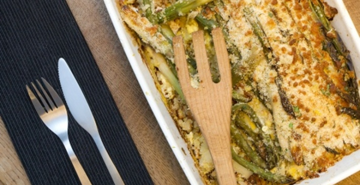 Asparagus Gratin With Spring Leeks Recipe | Cookbook Create
