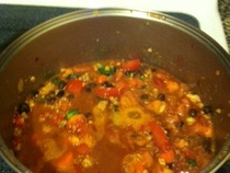 Tempeh Chili With Black Beans