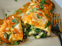 Jessica Siegel's Black Bean Spinach Enchiladas