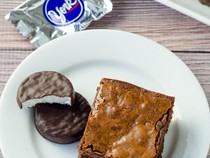 (Lethal!!!!) Peppermint Pattie Brownies