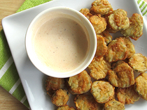 Fried Pickles And Sauce