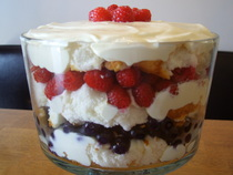 Chocolate Flavoured Mocha And Berry Trifle