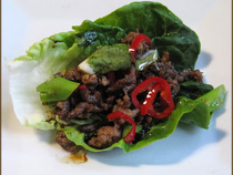 ?Chili Beef Lettuce Wraps