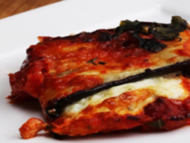 Cheesy Eggplant Roll Ups