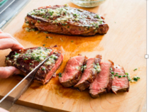 Cast Iron Steaks With Herb Butter