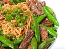 Stir Fried Beef And Snap Peas