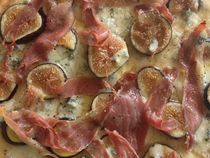 Fig, Proscuitto, Blue Cheese Pizza